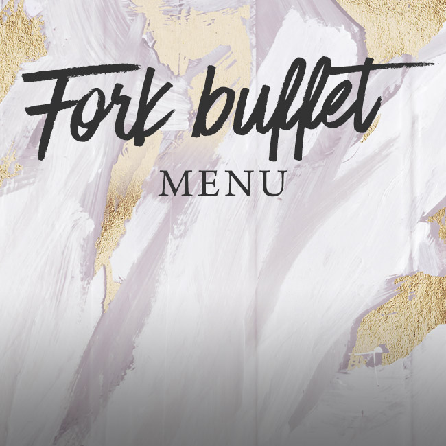 Fork buffet menu at The Arkle Manor