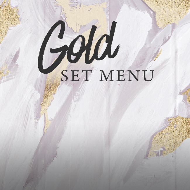 Gold set menu at The Arkle Manor