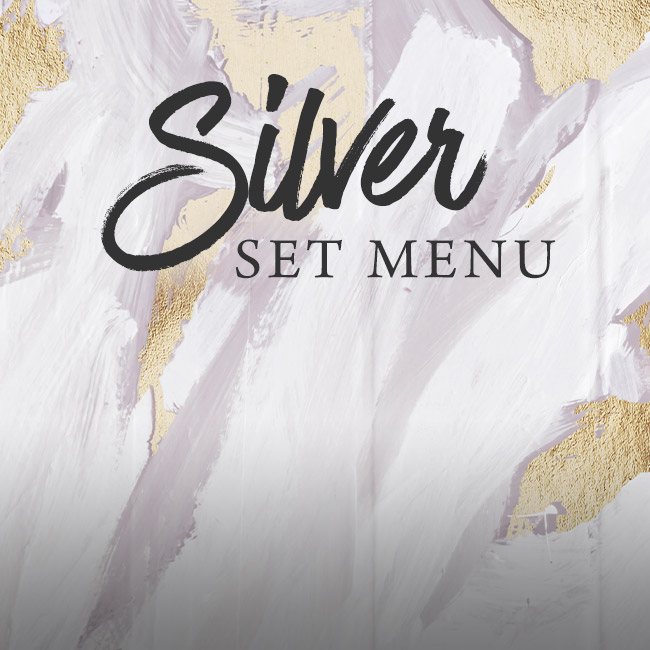 Silver set menu at The Arkle Manor