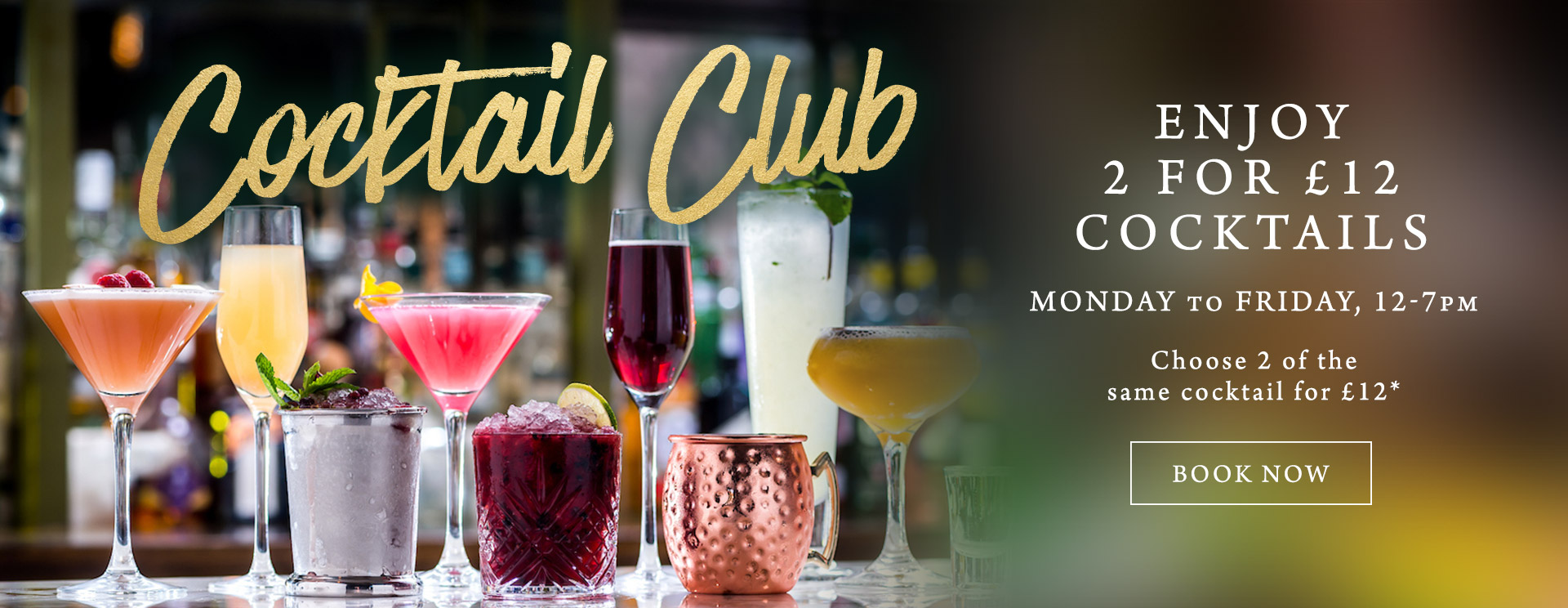 2 for £12 cocktails at The Arkle Manor
